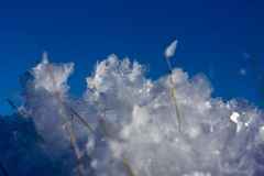 Ice crystals and blue sky Royalty Free Stock Image