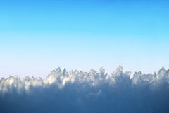 Ice crystals on blue sky Royalty Free Stock Photos