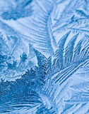 Ice Crystals. Close up of ice crystals forming on a window Stock Photography