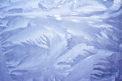 Ice crystals. Creating a leafy pattern Royalty Free Stock Photos