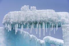 The ice crystals. In early spring at the sailimu lake of Xinjiang, China royalty free stock photos