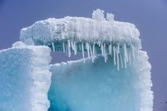 The ice crystals. In early spring at the sailimu lake of Xinjiang, China royalty free stock images