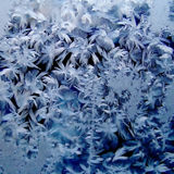 Ice crystals on the glass Royalty Free Stock Photo