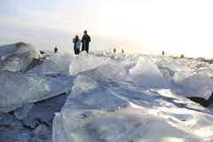 Ice crystals. In Jokulsarlon made up of glaciers royalty free stock photo