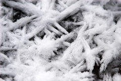 Ice Crystals. Macros of ice crystals on a lake Royalty Free Stock Photography