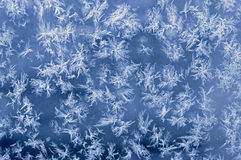 Ice Crystals On Glass Royalty Free Stock Image