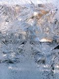 Ice crystals patterns Royalty Free Stock Image