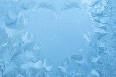 Ice crystals shape of heart Stock Photography