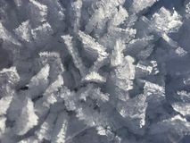 Ice Crystals on Snow Stock Image