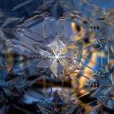 Ice crystals. Symbolic ice crystals from glass in Candlelight Royalty Free Stock Images