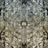 Ice crystals. Symbolic ice crystals from glass in Candlelight Stock Photos