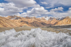 Ice crystals in Tajikistan Stock Photo