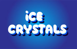 Ice crystals text 3d blue white concept vector design logo icon Royalty Free Stock Images