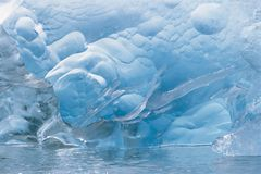 Ice Crystals On Water. Closeup of ice crystals on water Royalty Free Stock Images