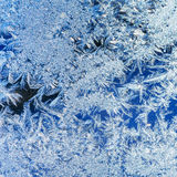 Ice crystals on a window Royalty Free Stock Photos
