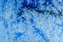 Ice crystals on a window Stock Photos