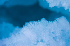 Ice crystals. Stock Photo