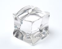 Ice cube. On a white background Stock Images