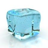 Ice cube. Isolated on white background stock illustration