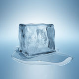 Ice cube. With water drop Stock Photo