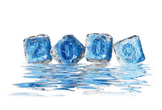 Ice cube 2009. Year 2009 in ice cube effect to show the bad environment royalty free illustration