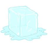 Ice cube illustration Royalty Free Stock Images