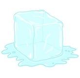 Ice cube illustration. Ice cube cartoon; Ice melting drawing Royalty Free Stock Images