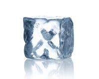 Ice cube. On white background Stock Photos