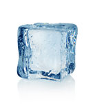 Ice cube. On a white background Stock Photography
