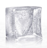 Ice Cube. Hand made clipping path included Stock Images