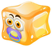 Ice cube with baby face Royalty Free Stock Images