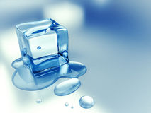Ice cube background Royalty Free Stock Photo