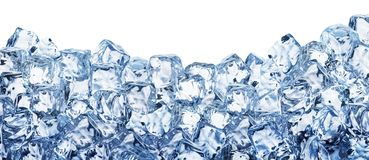 Ice Cube Background. Clipping Path. Stock Photos
