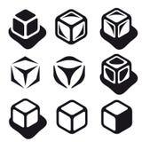 Ice cube black symbols Royalty Free Stock Photo