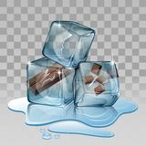 Ice cube chocolate Stock Image