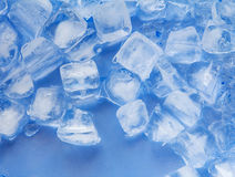Ice cube , cold blue tint color Royalty Free Stock Image