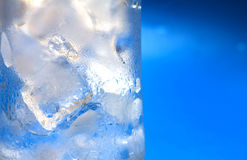 Ice cube , cold blue tint color Stock Photos