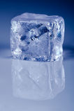Ice cube with copy space Stock Image