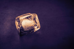 Ice cube. Royalty Free Stock Images