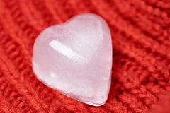 Ice cube, heart Stock Photos
