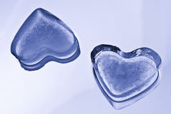 Ice Cube Hearts Stock Image