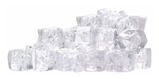 Ice cube. Isolated Royalty Free Stock Photography