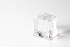 Ice cube isolated Royalty Free Stock Photo
