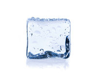 Ice cube isolated on white Royalty Free Stock Photo