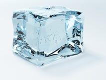 Ice cube isolated on white Stock Image