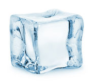 Ice cube. Isolated on a white background. Clipping Path Stock Photography