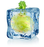 Ice cube and kohlrabi Royalty Free Stock Images
