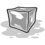 Ice Cube Melting Illustration Royalty Free Stock Images