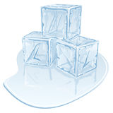Ice cube pile Stock Image