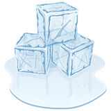 Ice cube pile Royalty Free Stock Images
